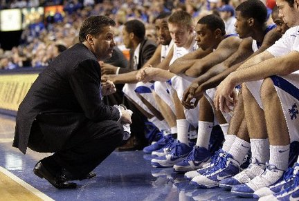 Calipari connecting with his young team