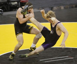 Iowa's HWT Bobby Telford (left) has a tough road ahead of him to try and capture a B1G title