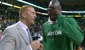 Former NBA player Brian Scalabrine is now the voice of one of his former teams, the Boston Celtics.