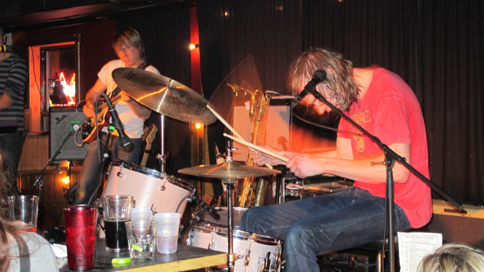 Danny Siem playing the drums.