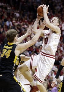 Iowa suffered another conference loss to Indiana this past weekend, bringing their overall Big Ten record to 7-9. (AP Photo)