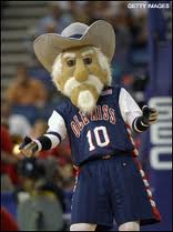 The former mascot for Ole Miss, Colonel Reb.