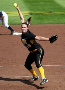 University of Iowa pitcher Chelsea Lyon (Photo: Darren Miller)