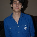 Teddy Geiger showing of his KRUI button