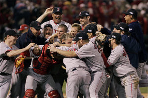2004 World Champion Boston Red Sox (Source: Jim Davis, Boston Globe)