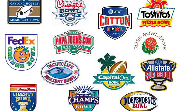 A handful of Bowl Game Logos (source: gridiron rats.com)