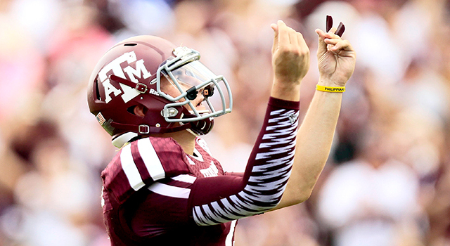 Johnny Manziel enters the NFL Draft with hype, talent, and skepticism. (Thomas Campbell/USA Today Sports Images).