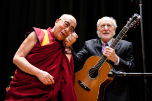Peter Yarrow and the Dalai Lama in Japan.