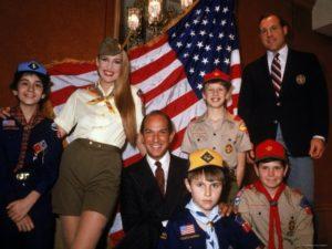 Oscar de la Renta redesigned the Boy Scout uniform in 1980.