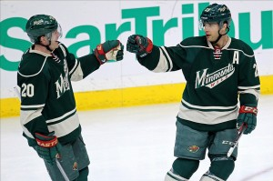 Ryan Suter (20) and Jason Pominville (29) are two big reasons why the Wild have been so successful. (Photo: gonepuckpwild.com)