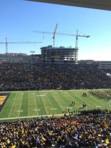 Iowa pays tribute to America Needs Farmers with an annual card stunt, but it was a little lackluster in 2014.