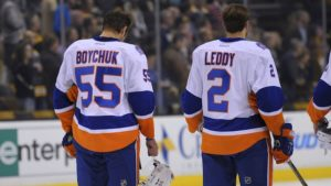 Johnny Boychuk and Nick Leddy have played a major role in the Islanders reassurance. (Photo: Bob DeChiara/USA TODAY Sports)