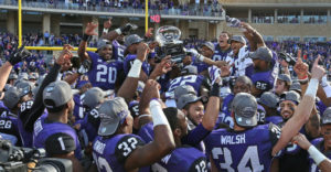 Because of the Big-12 having Co-Champions and no championship game, TCU was snubbed out of the first College Football Playoff. (Photo: Paul Mosley/ Associated Press)