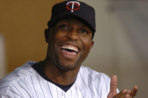 Torii Hunter and his smile  will be back in Minnesota in 2015.(Photo Credit: Scott Takushi, Pioneer Press)