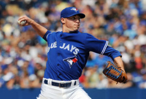 Aaron Sanchez delivers a fastball. (Photo Credit: USA TODAY SPORTS)