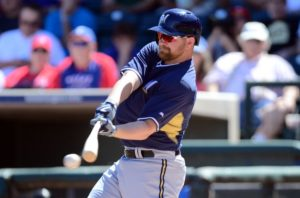 Adam Lind adjusting in spring training. (Photo Credit: Joe Camporeale-USA TODAY Sports)