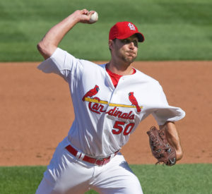 Adam Wainwright delivers a fastball. (Photo Credit: Tedellis Sports Photography)