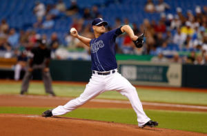 Alex Cobb delivers a pitch. (Photo Credit: J. Meric/Getty Images North America)