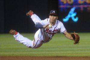 Andrelton Simmons makes an incredible play. (Photo Credit: AP Photo)