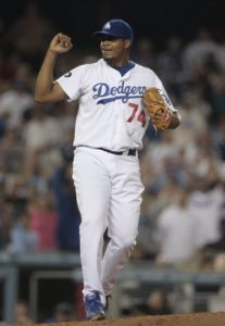 Kenley Jansen closes out the game securing a Dodger victory. (Photo Credit: AP Photo)