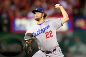 Clayton Kershaw delivers a strike. (Photo Credit: Dilip Vishwanat/Getty Images)