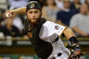 Russell Martin throws down to second base. (Photo Credit: Peter Diana/Post-Gazette)