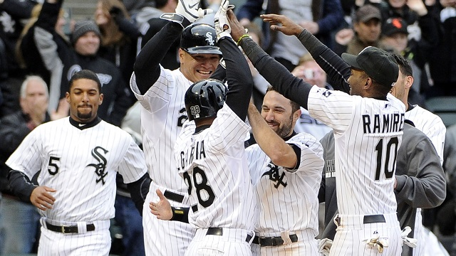 The Chicago White Sox celebrate a victory. (Photo Credit: David Banks-USA TODAY Sports)