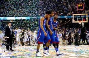 Kansas has dominated the Big 12 as much as one team can. Ten consecutive conference titles and a slim margin of victory against UConn in sustained postseason success gave them the nod.