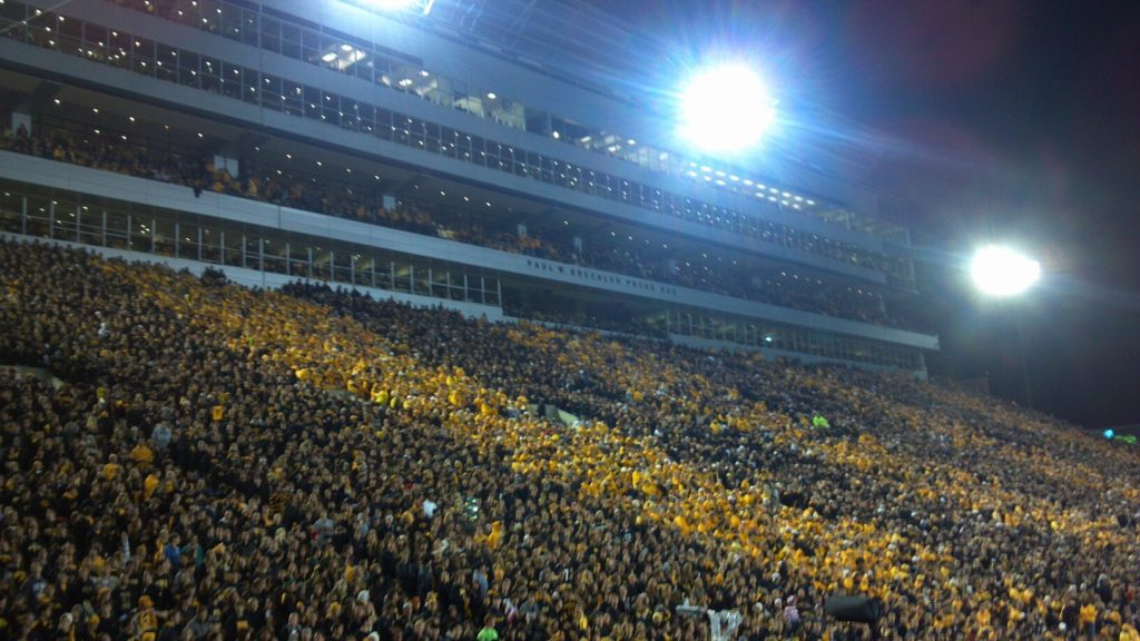 The Hawkeyes last hosted a night game in 2012 against Penn State.