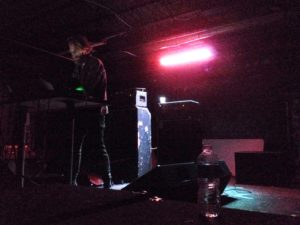 """Ben Frost performing """"Aurora."""" Photo by Alec Gluesing."""