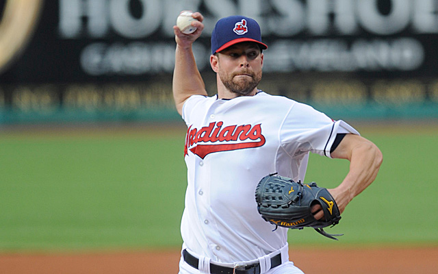 "Photo obtained from Matt Snyder's 8/6/2013 article on CBS Sports.com entitled ""Indians lose Corey Kluber for 4-6 weeks with finger sprain"""