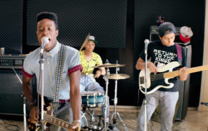 The three main characters form a punk band, playing songs written by Pharrell Williams (photo via: NYTimes)