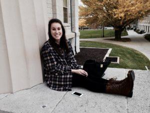 Megan, at home on the Pentacrest.