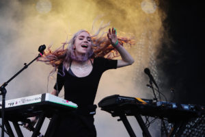 Grimes performing in Chicago, Illinois. (Photo by Roger Kisby/Getty Images)