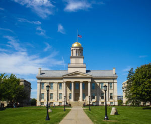 The Old Capitol on the University of Iowa campus.