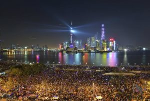 People at the Bund, in Shanghai, China, waiting for the annual new year countdown (Photo via newsweek.com)