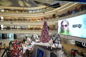 At a mall in Shanghai, the largest city in Mainland China, with Christmas trees and Star Wars promotions (Photo via jingdaily.com)