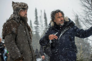 DiCaprio and Inarritu on set (Photo via: NYTimes.com)