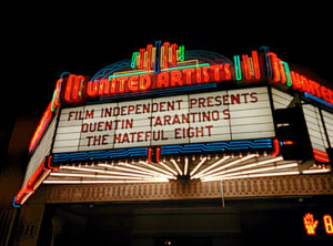 Marquee for The Hateful Eight 70mm Road Show