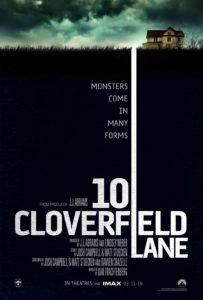 Poster for 10 Cloverfield Lane courtesy of 10CloverfieldLane.com