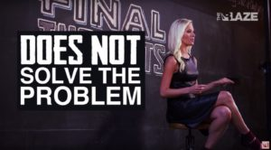 "You're right, Tomi. Spewing your hateful claims without any actual solutions ""does not solve the problem."" (via: youtube.com)"