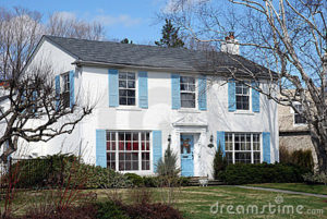 Photo via: http://www.dreamstime.com/photos-images/white-house-blue-shutters.html