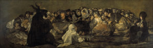 "Francisco Goya's 1798 painting ""Witches' Sabbath"""