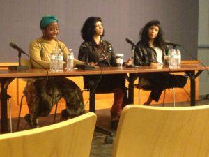 Black Art/White Space Left to right: Alea Adigweme, Monica Martin, Adia Victoria