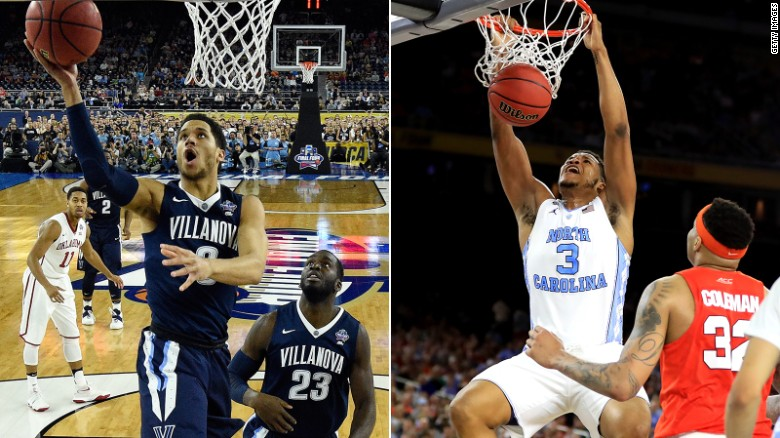 Villanova and North Carolina Square Off For National Championship Title - Image Taken from cnn.com