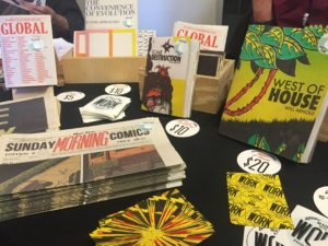 Work Press & Publication table Image via: Elaine Irvine