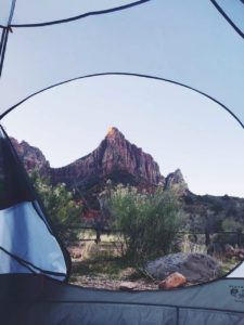 Camping at Zion (image via Calvin Peng)