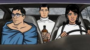 Archer, Cyril, and Lana after Luke's disturbing deathbed divulgence, courtesy of slate.com