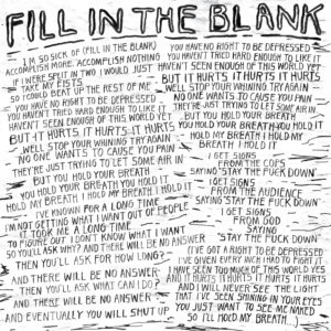 Fill In The Blank Lyrics Courtesy Of Pitchfork