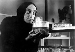 Igor, played by Feldman, steals a brain for the experiement